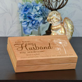My Husband Keepsake Box is Personalized with Name and Date
