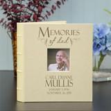 Memories of Dad Personalized Memorial Album