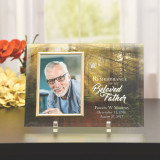 Beloved Father Personalized Glass Memorial Frame