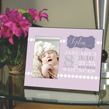 Birth Announcement Frame for a Girl