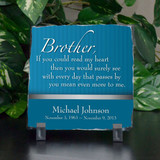 Brother Means More Memorial Plaque