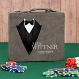 Gray All Dressed Up Poker Set