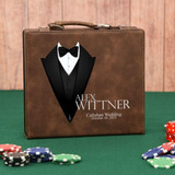 Brown All Dressed Up Poker Set