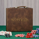 Groomsmen Personalized Poker Set in Brown