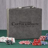 Groomsmen Personalized Poker Set in Gray