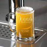 Scripted Bridesmaid Personalized Beer Mug