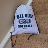 Classic Softball Drawstring Bag