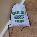 Classic Soccer Drawstring Bag