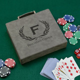 Personalized Poker Chip Set in Gray