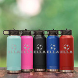 Choose from 5 Colors of Soccer Water Bottles