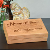 Memory box is engraved with message to heaven poem