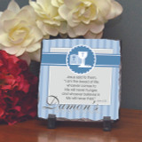 Bread of Life Blue Personalized Plaque