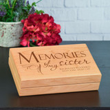 Memories of Sister Personalized Keepsake Box