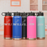 Personalized Tennis Water Bottle  in 5 colors
