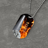 Feel the Fire Cheerleader Dog Tag