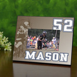 Retro Personalized Football Picture Frame