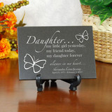 Forever My Daughter Personalized Memorial Plaque