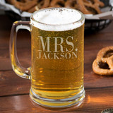 Mrs. Personalized Beer Mug Set