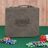Wedding Party Gray Personalized Poker Set