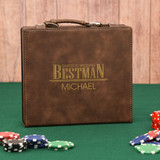 Wedding Party Brown Personalized Poker Set