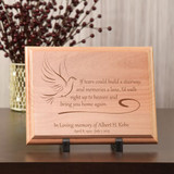 'If tears' Personalized Memorial Plaque