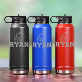 Personalized Football Water Bottle