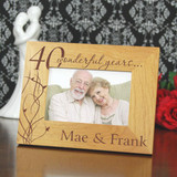 Wonderful Years Personalized Anniversary Frame
