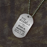Forever My Brother Memorial Dog Tag