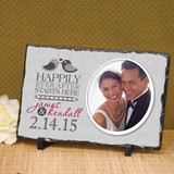 Happily Ever After Personalized Wedding Plaque