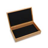 Felt lined wooden box