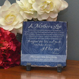 Mother's Love Small Personalized Memorial Stone Plaque