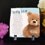 Teddy Bear Small Memorial Plaque