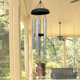 Remembrance wind chime printed with a cardinal