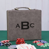 Monogram Gray Poker Set