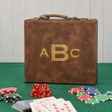 Monogram Brown Poker Set