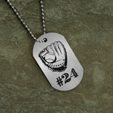 Jersey Number Personalized Baseball Dog Tag