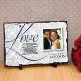 Love Never Fails Personalized Wedding Plaque