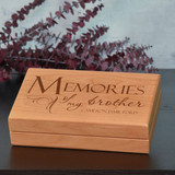 Memories of Brother Keepsake Box Personalized