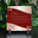 Dad Means More Personalized Small Memorial Plaque