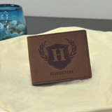 Dark Brown Royal Emblem Wallet
