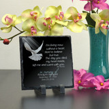 Without You Personalized Small Memorial Plaque