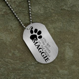 Paw Prints on Our Heart Dog Tag