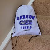 Classic Tennis Drawstring Bag