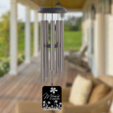 Mom's Garden Pewter Personalized Wind Chime