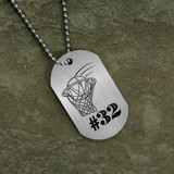 Jersey Number Basketball Dog Tag