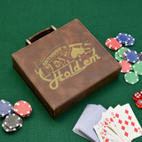 Texas Hold em Brown Personalized Poker Set