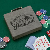 Texas Hold em Gray Personalized Poker Set