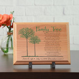 Family Tree Memorial Wood Plaque