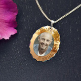 Forever Brother Personalized Memorial Photo Pendant
