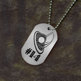 Jersey Number Lacrosse Dog Tag